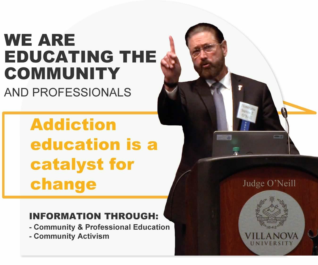 activism education addiction